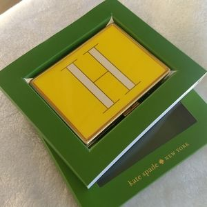 "♠️Kate Spade Initial ""H"" Lenox ID or Card Holder"